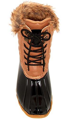 Arktisk Stupe Kvinners Quilty Boot Tan-svart