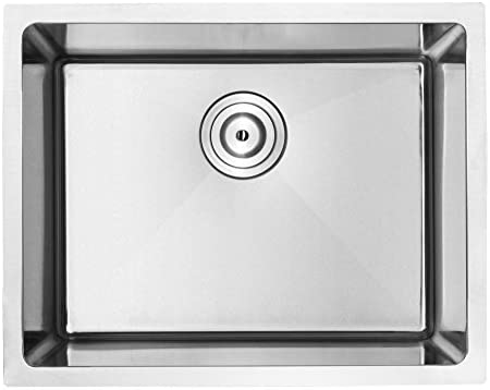 21 Ticor PLZ-10 Undermount 18 Gauge Stainless Steel Square Kitchen Sink with Tight Radius Corners