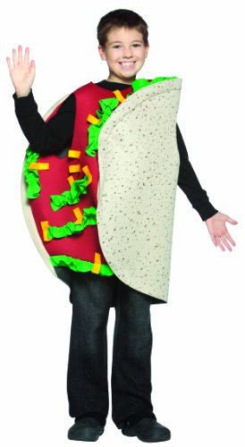 Taco Dress Womens Costumes (Rasta Imposta Taco Child Childrens Costume, 7-10, Multicolor)