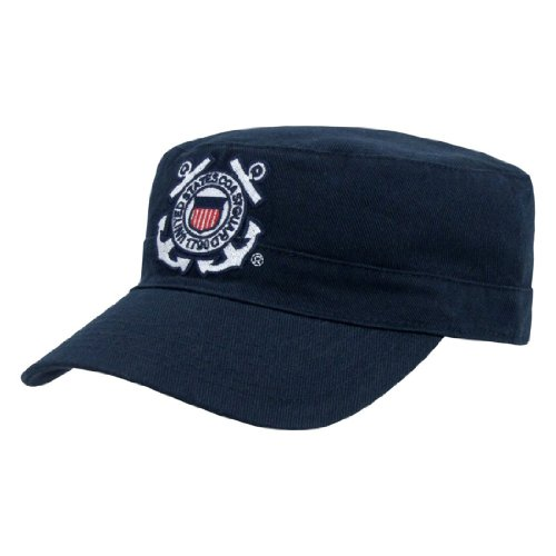 Rapid Dom US Military The Private Cadet Flat Top Reversible Branch Caps S009 Coast - Us Coast Tag Guard Dog