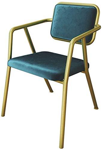 Poltrone In Ferro Battuto.Qtqzdd Nordic Fashion Velvet Leisure Side Chair Schienale Sedia Da