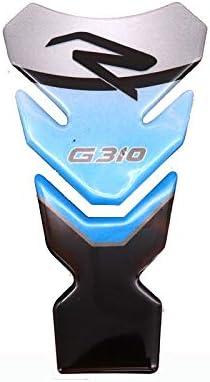 Color : 4 1 Juego Accesorios de la Motocicleta Real del coj/ín del Tanque de Gas Combustible Etiqueta de la Etiqueta del Emblema Protector de la Moto for BMW G310R G310GS LIWENCUI