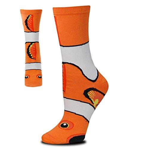 Clown Fish Sock Puppet Orange Medium Socks -
