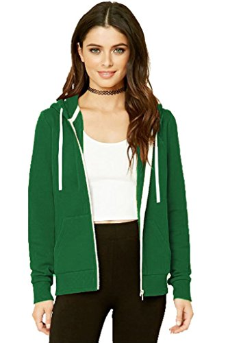 8XL da zip a donna da Felpa comode taglie S Green unita Jade con cappuccio con in tinta taglie EZwxUqwS
