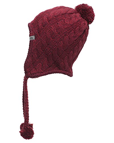 The North Face Women's Fuzzy Earflap Beanie, Deep Garnet Red/Biking Red, One Size