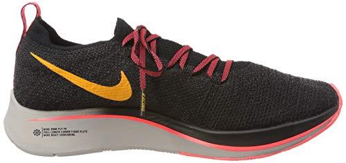 Nike Men's Zoom Fly Flyknit Black/Flash Crimson/Orange Peel Nylon Running Shoes 7.5 M US by Nike (Image #6)