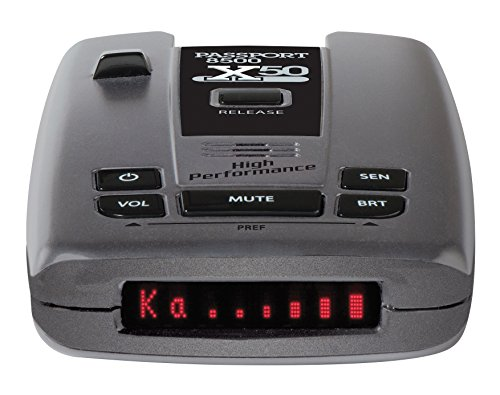 Escort Passport 8500X50 Black Radar Laser Detector, w Bluetooth and SmartCord USB, Red Display