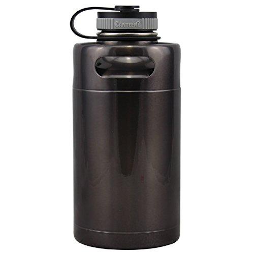 Gunmetal Vacuum Insulated 64oz Stainless Steel Mini Keg Beer Growler