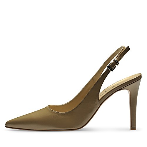 Evita Shoes Natalia Damen Sling Pumps Glattleder Nude