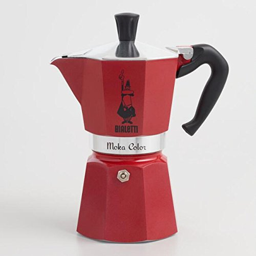 Italian 6 Cup Stovetop Moka Espresso Maker With Italian Medium Roast Ground Moka Coffee