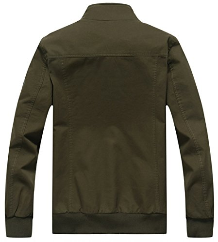 Verde Uomo Giacca Militare Camicia Yyzyy FqzRPZP