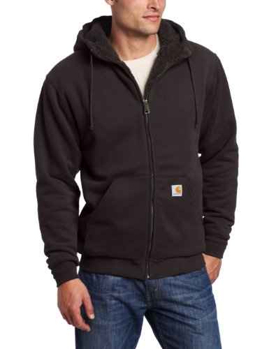 Carhartt Men's Big & Tall Collinston Brushed Fleece Sherpa Lined Sweatshirt,Black,XXX-Large Tall Big And Tall Fleece Sweatshirt