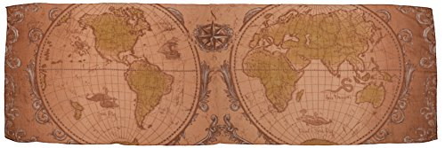 elope Olde World Map Lightweight Scarf for Women by elope (Image #1)