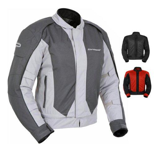 Tour Master Flex Series 3 Men's Textile Sports Bike Motorcycle Jacket - Silver/Gun Metal / Large