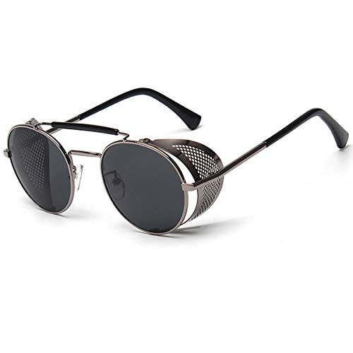 Vanlinker Steampunk Sunglasses for Women Men Retro Round Unisex Eyewear Glasses UV400
