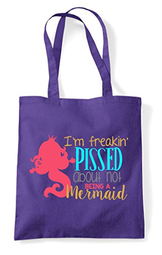 Pissed Purple About Shopper Being Not Bag A Tote Mermaid 88qrPwxT