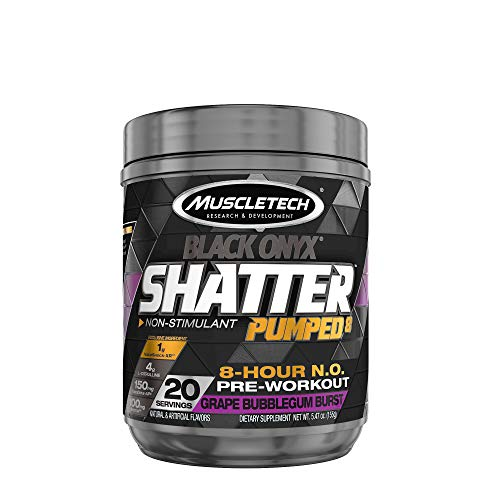MuscleTech Shatter Pumped 8 Black Onyx Grape Bubblegum Burst