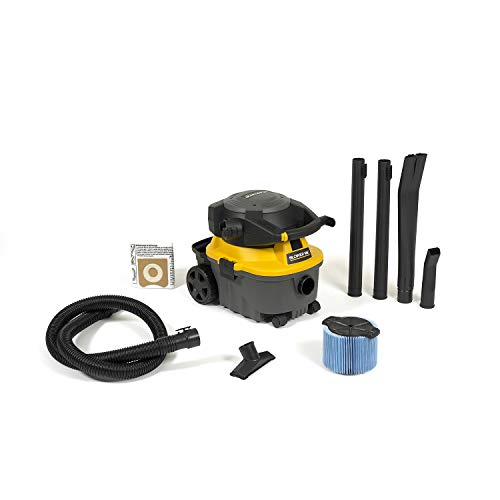 Workshop Wet Dry Blower Vac WS0400DE Portable Wet Dry Vacuum Cleaner & Blower, 4 gallon Leaf Blower Vacuum Cleaner, 6.0 Peak Hp Small Shop Vacuum & Blower (Wet Vac And Blower)