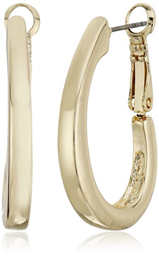 Napier Gold-Tone Large Oval Hoop Earrings