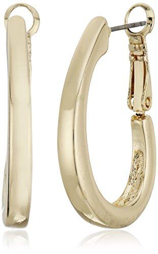 Napier Oval Earrings - Napier Gold-Tone Large Oval Hoop Earrings