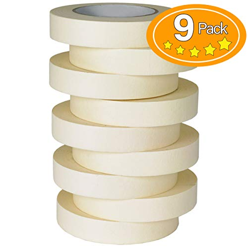 Skytogether Multi-Purpose Masking Tape, 0.94 inch by 55 Yard, 9 Rolls