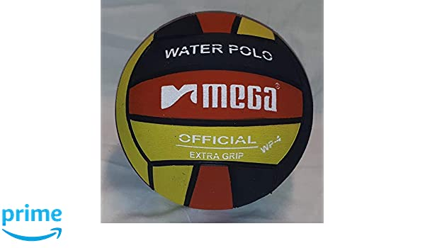 Mega Water Polo Ball - Balón de Waterpolo (Talla 4), Color Negro y ...