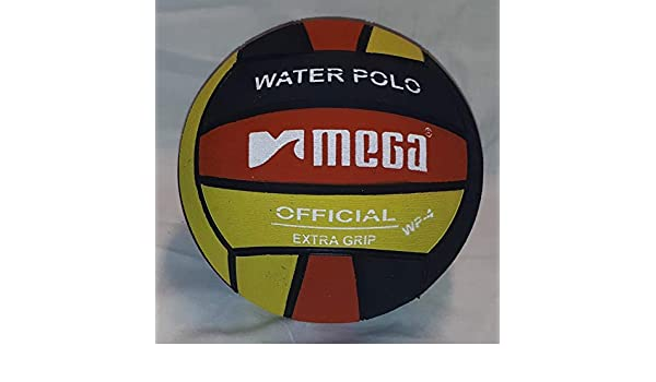 Mega Water Polo Ball - Balón de Waterpolo (Talla 5), Color Negro y ...