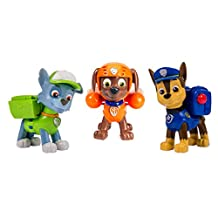 Paw Patrol 6024061 Action Pups 3 Pack Figure Set Chase, Rocky, Zuma
