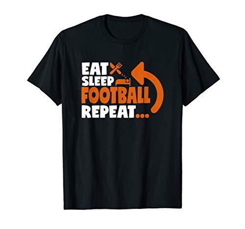 Mens Eat Sleep Football Repeat T Shirt Team Player Coach Gift - Zone Offense Football