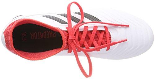 fútbol Botas 000 adidas FG Adulto J 18 Unisex Negbas Ftwbla de Correa Blanco Predator 3 Xqw60X