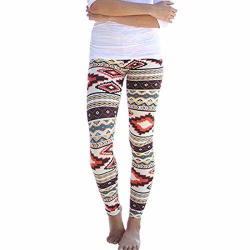 Women's Multi-Color Skinny Printed Long Soft Full Length Leggings A1