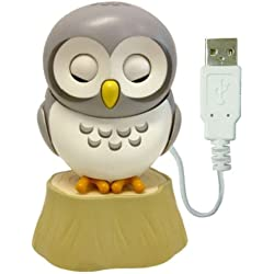 Healing Owl from PC Forest - USB type Gadget - USB Owl for Desk (Gray)