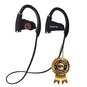 BDQFEI(TM) Bluetooth headphones 4.1 wireless earphones with MIC sport heavy bass stereo music headset noise cancelling neckband IPX5 sweatproof earphone