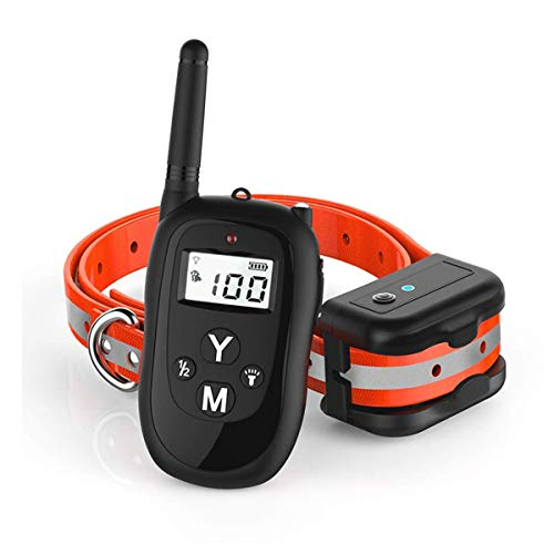 candyPet Dog Training Collar with Remote, 2019 Upgraded 1000ft Rechargeable Waterproof Remote Control Training Collar, 3 Adjustable Beep/Vibration/ Static Collars for Small/Medium/Large Dogs