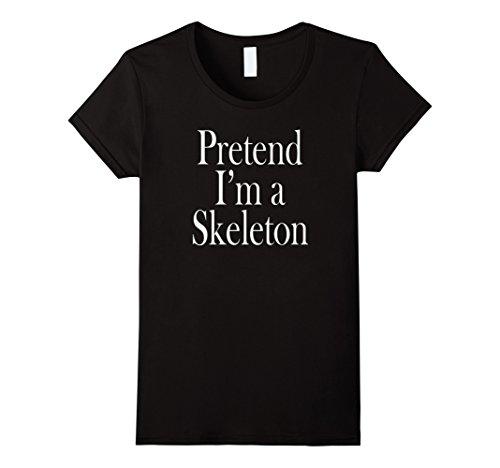 Womens Skeleton Costume T-Shirt for the Last Minute