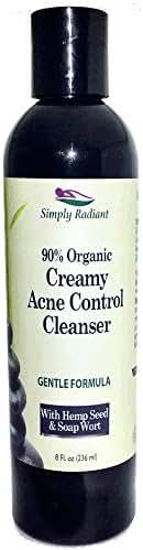 Organic Glycolic Acid Face & Body Wash | Natural Facial Cleanser | Anti Aging + Acne Face Wash | Exfoliates & Rejuvenates