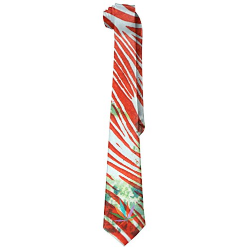 Double-Happiness-Elegant-Classic-Marijuana-Skinny-Tie-For-Men