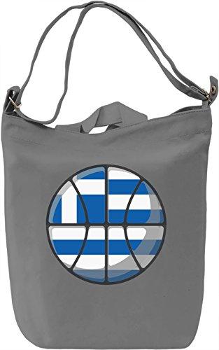 Greece Basketball Borsa Giornaliera Canvas Canvas Day Bag| 100% Premium Cotton Canvas| DTG Printing|