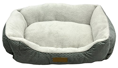 Plush SoftPetBed, Designed for Comfort, 20″ X 28″ X 10″, machine washable Ultra SoftGray PetBedBy RAPHAEL ROZEN, New Colors Available