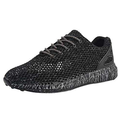 JJLIKER Men's Walking Shoes Mesh Cut Out Casual Athletic Shoes Quick Dry Running Lightweight Breathable Fashion Sneakers