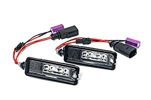 Genuine OEM VW GTI MK6 Golf MK7 Euro LED Number License Plate Lights R