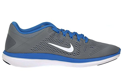 Nike Herren Flex 2016Rn Laufschuhe, Grün, UK Gris (Cool Grey / White-Lyl Bl-Pht Bl)