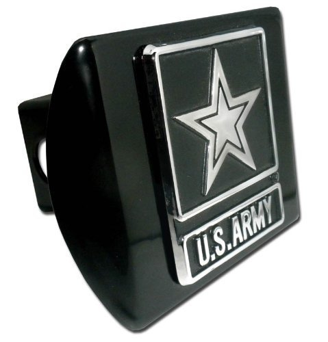 Elektroplate Army (Star) ALL METAL Black Hitch Cover