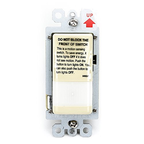 Pass & Seymour Legrand CWP100-I Trademaster Vacancy Sensor 120V 1-Pole, Ivory