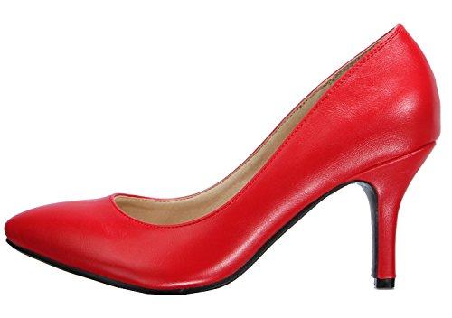 Damenmode 2 Schuhe Kitten Rot Zoll Heel 2 Damen 2 SHOQY26 SEXYHER 2 Amt gx8dvfTgqn