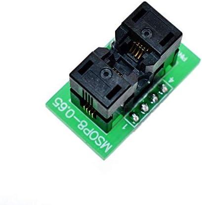 Elektronisches Zubehör MSOP8 zu DIP8 MCU-Test IC-Sockel Programmierer Adapter Sockel Zubehör
