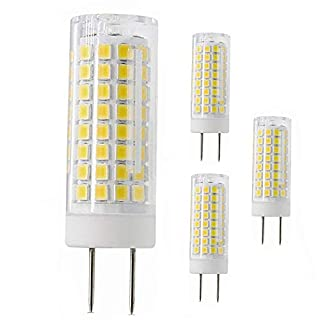 All-New G8 Led Bulb, 75W Halogen Bulb Replacement, Dimmable 7W G8 Led Lamps, G8 Bi-pin Base Bulb, AC120V 720lm, Under Cabinet Counter Light, Kitchen Lighting and Puck Lights, 4 Pack (Cool White)