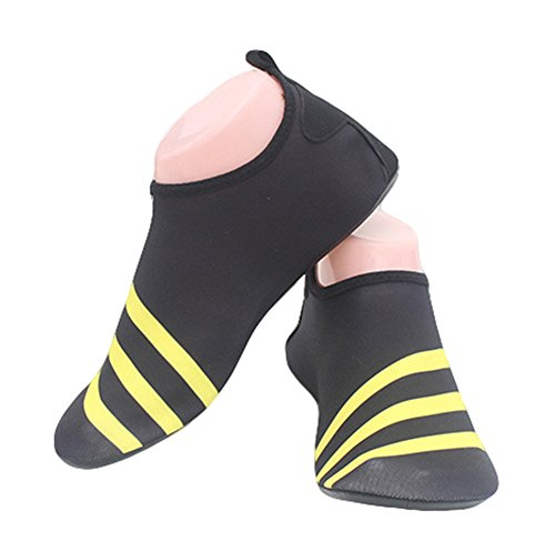 Breathable Socks Fortuning's Shoes Durable Skin Shoes On Water Surf Sole Diving Summer Aqua Beach Yellow Sport Sports Yoga JDS Pool 4xw4PqBr8
