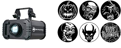 Full Compass Halloween Gobo Projector Package - Includes ADJ Gobo Projector IR and Apollo Halloween Gobos