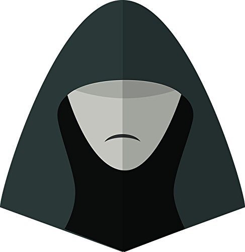 LAMINATED 24x24 Poster: Starwars Man Hat Face Symbol Head Character Gentleman Guy Male Jedi Movies Dangerous Style Halloween Fear Horror Scary Dead Death Costume Bloody People (Dead Person Halloween Costume)